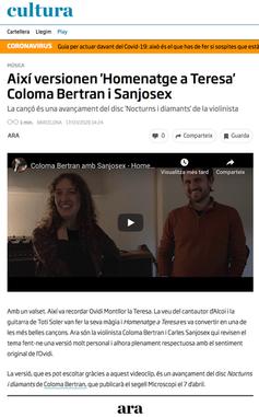 Diari Ara - Coloma Bertran i Sanjosex