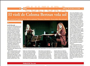 El violí de la Coloma Berran vola sol