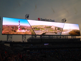 St. Augustine Lighthouse Featured on the New Scoreboards at Everbank Field in Jacksonville