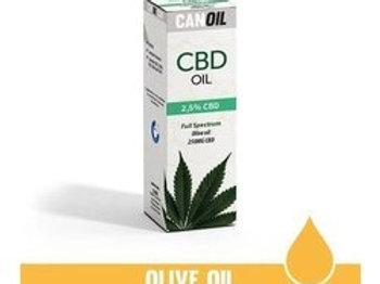 Canoil CBD olie 2,5% 10ml Full Spectrum olijf olie