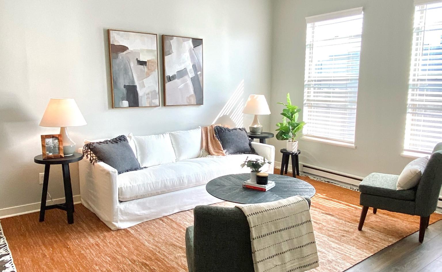 Condo Livingroom Staging
