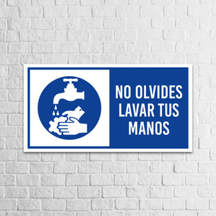 Señalización Protocolos de Seguridad - Covid 19 - Lavar tus manos