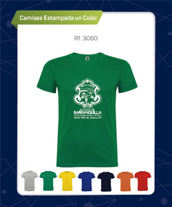 CAMISETA ALGODON ESTAMPADA 1 COLOR