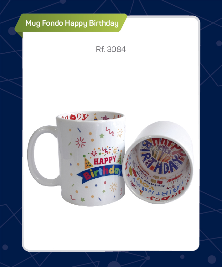 MUG FONDO HAPPY BIRTHDAY