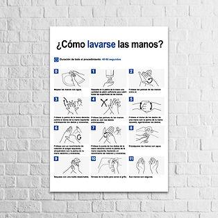 Señalización Protocolos de Seguridad - Covid 19 Cómo lavarse las manos