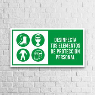Señalización Protocolos de Seguridad - Covid 19 - Elementos de protección personal