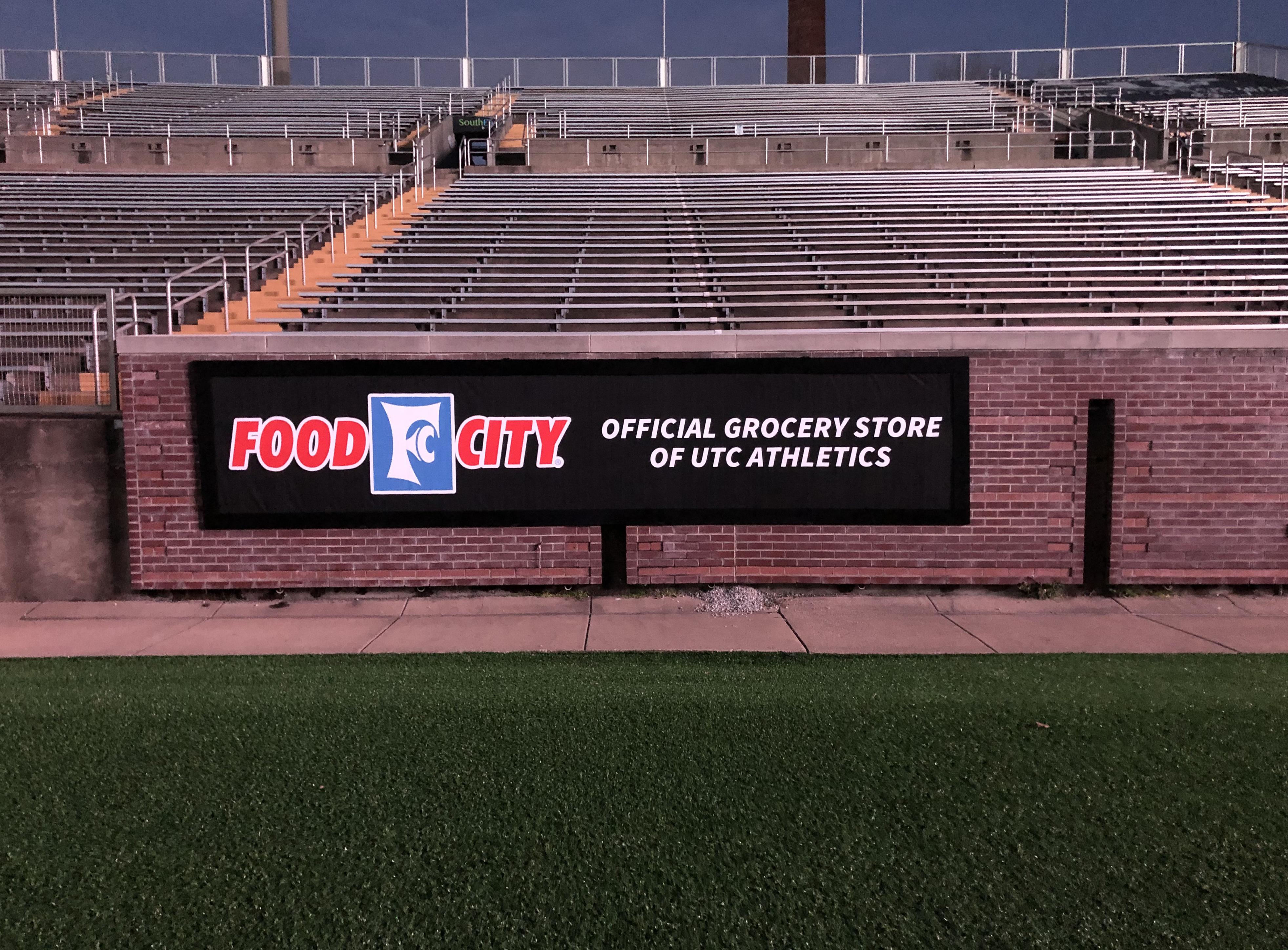 UTC Finley Stadium Signage