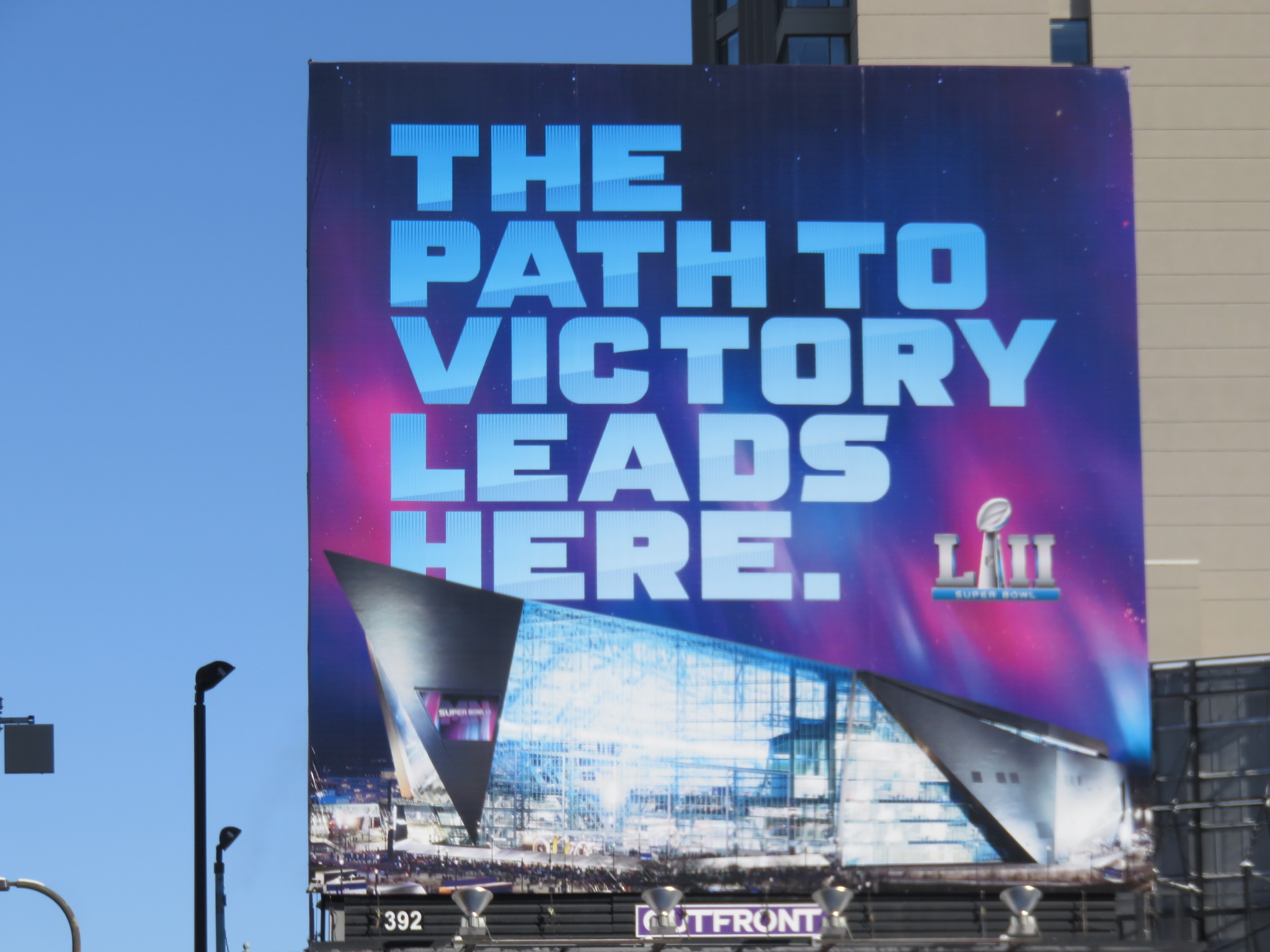 Super Bowl LII Billboard