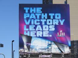 Super Bowl LII Billboard