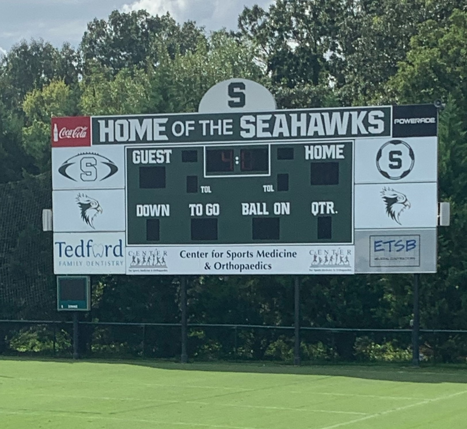 Silverdale Seahawks Scoreboard
