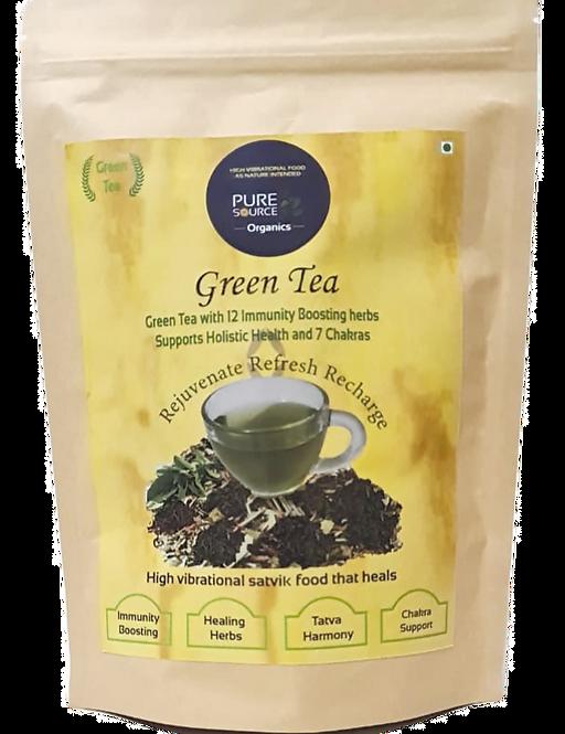 7 Chakra Rejuvenating Green Tea with 12 Immunity Boosting Herbs