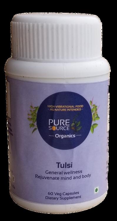Tulsi Capsules (60 Veg Capsules made with Organic Herbs)