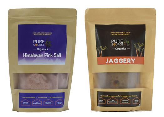 Himalayan Dark Pink Salt (Free Flow) + Jaggery