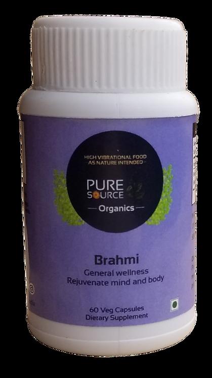 Brahmi Capsules (60 Veg Capsules made with Organic Herbs)