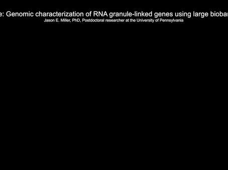 Genomic Characterization of RNA Granule-linked genes Using Large Biobanks