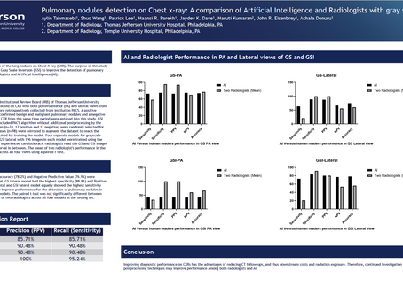 Pulmonary Nodules Detection on Chest x-ray: A Comparison of Artificial Intelligence and...