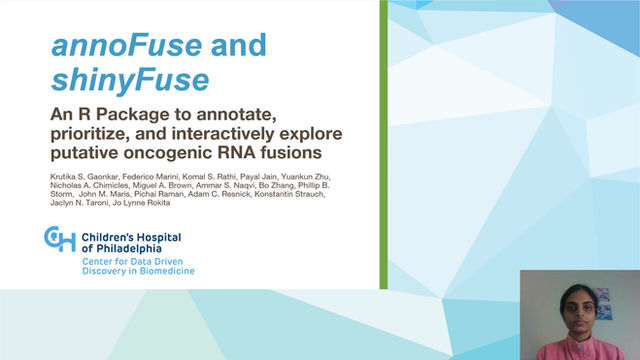 annoFuse and shinyFuse: An R Package to Annotate, Prioritize, and Interactively Explore...