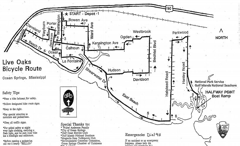 Live Oaks Bicycle Map