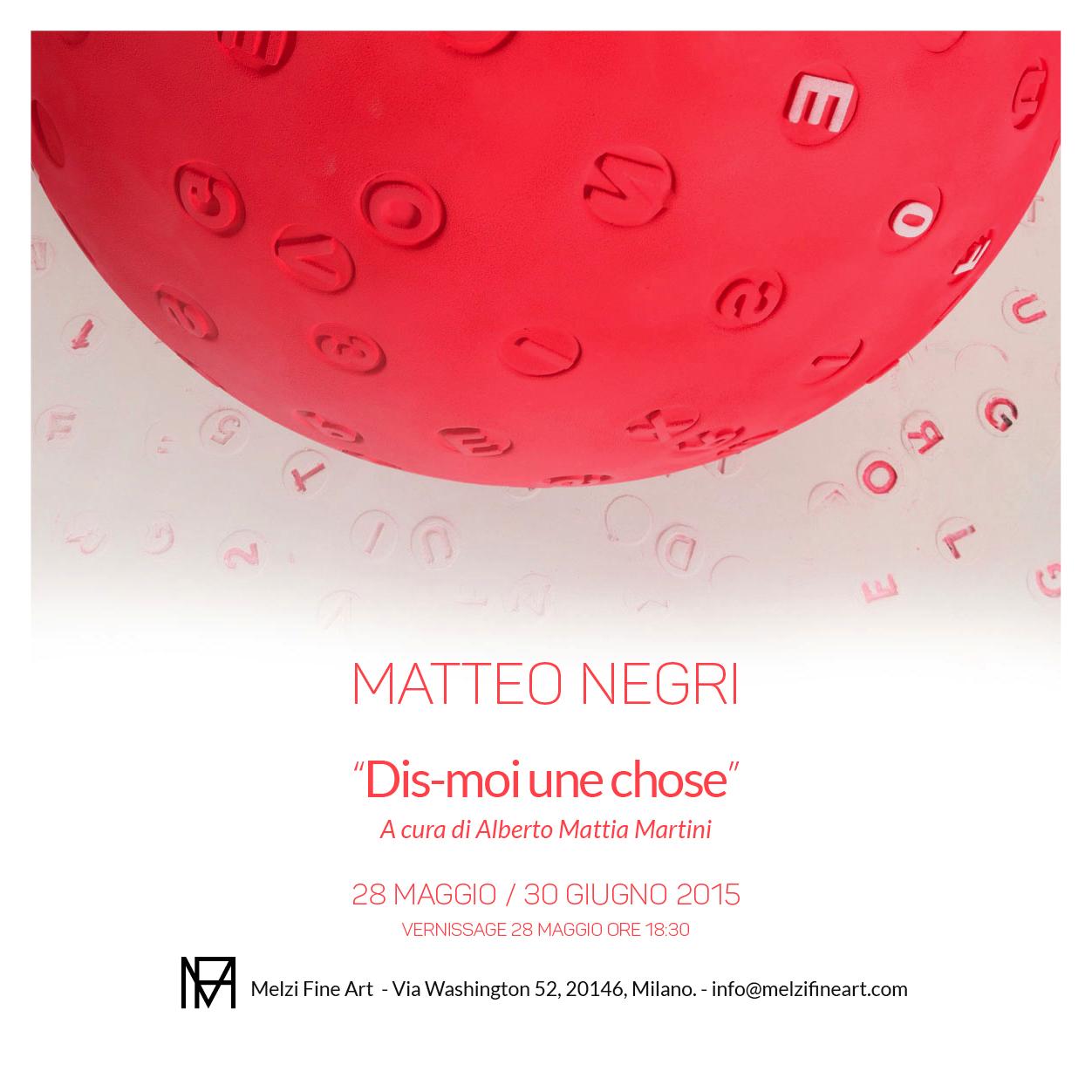 'Dis-moi une chose' | Matteo Negri