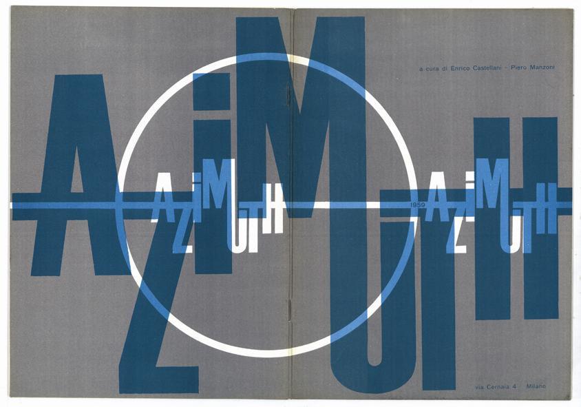 """4-Copertina-del-primo-numero-della-rivista-""""Azimuth""""-Milano-settembre-1959.-Cour"""
