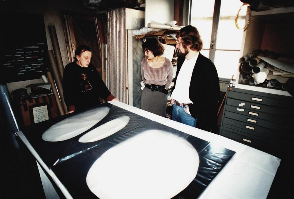 con il direttore del museo di dortmund, milano 1995.jpg