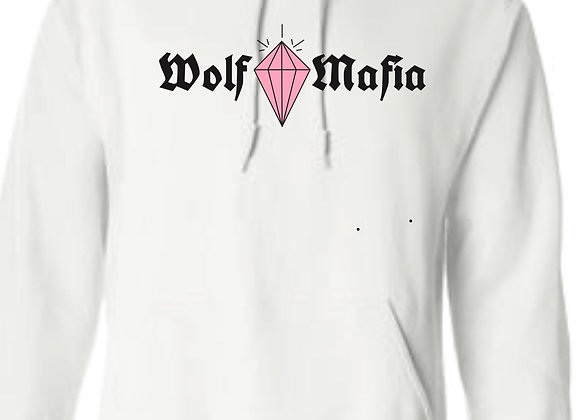 Wolf Mafia (White) Hoodie Pink Diamond