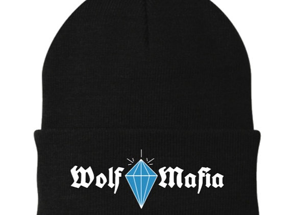 Wolf Mafia (Black) Beanie  Blue Diamond