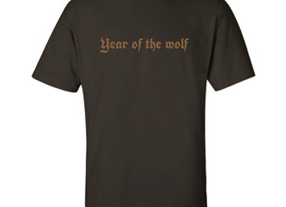 Year of the wolf -Brown Embroidery