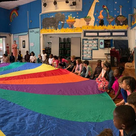 Parachute games for Butterfly Day