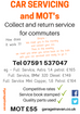 Collect and return service for commuters