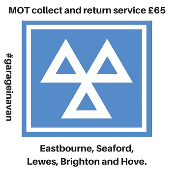 MOT collect and return service eastbourne, lewes, brighton east sussex