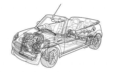 cutaway picture min convertible the mini mechanic
