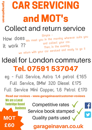 collect and return mobile mechanic service tonbridge