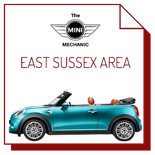 image of blue mini convertible, link to east sussex page for the mini mechanic mobile mechanic