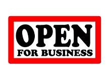 open for businees logo, local independent mobile mechanic in brighton www.garageinavan.co.uk/brighton