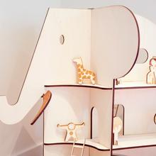 grote display olifant / poppenhuis