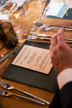 houten menukaarten
