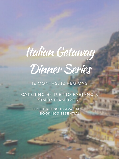 Italian Dinner - Friday 29 January 2021 6.30pm