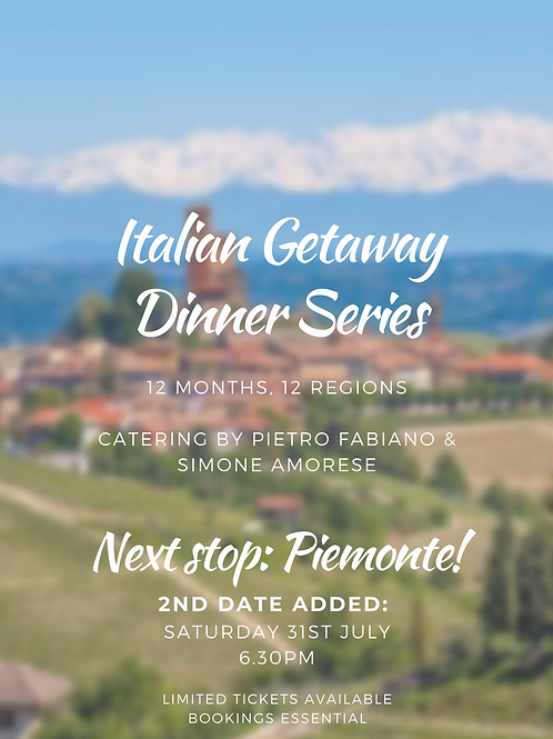 Italian Dinner - JULY Saturday 31st