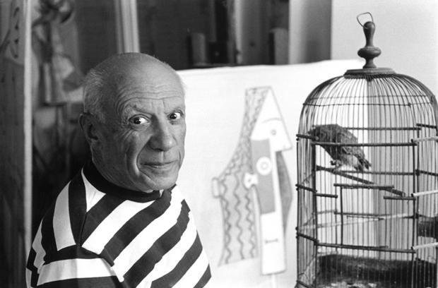 Picasso en su estudio de Málaga