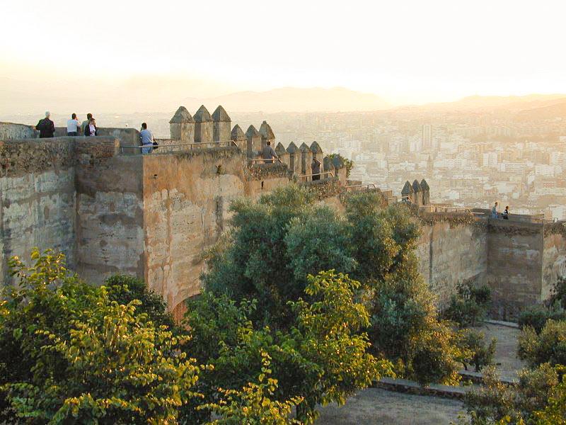 Muralla del Castillo de Gibralfaro