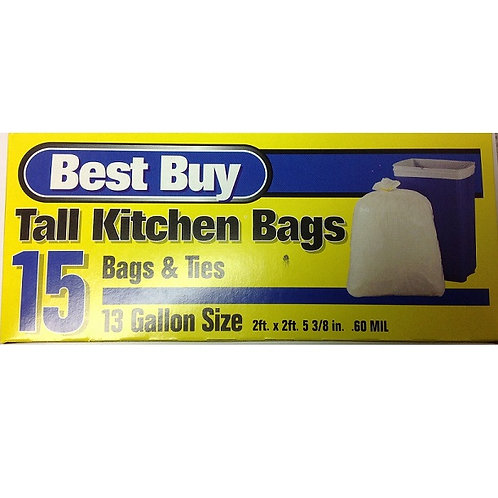 Best Buy Tall Kitchen Trash Bags (13 gal)