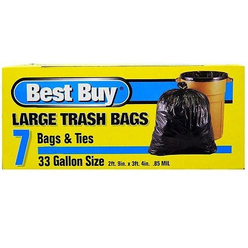 Best Buy Large Trash Bags (33 Gal)