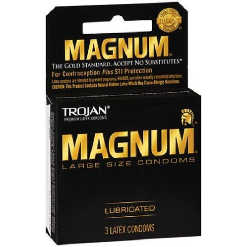 Trojan Magnum Condoms (3ct)