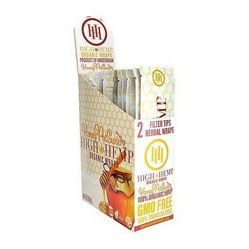 High Hemps %100 Tobacco Free Wraps Honey (per pack)