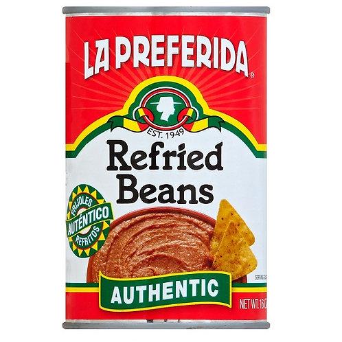 LA Preferida Refried Beans Authentic  (16oz)