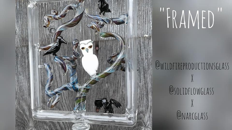 """""""Framed"""" Owls and Crows Recycler"""