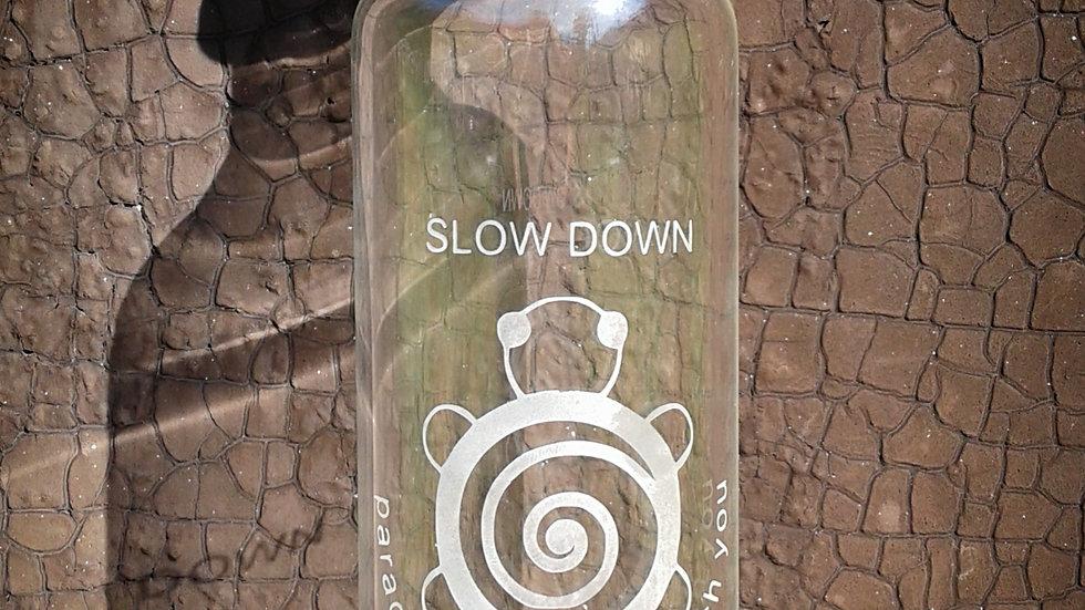 Handblown Water Bottle- Turtle