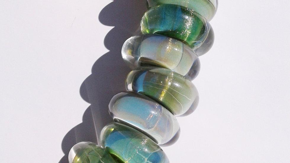 Glass Bead Necklace- Mystery Adventurine