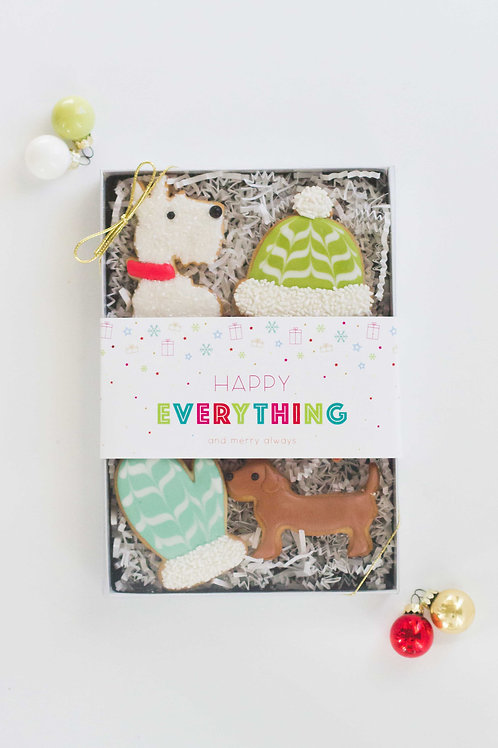 Happy Everything Gift Box , Sugar Cookies (Set of 6)